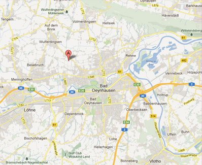 Anfahrt in Google Maps